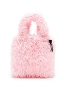 Розовая сумка с меховой отделкой Balenciaga