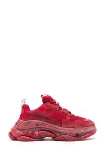 Красные кроссовки Triple S Balenciaga