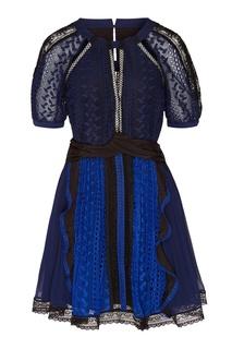 Короткое платье с драпировкой на талии Self Portrait