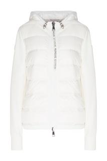 Комбинированная белая куртка Moncler