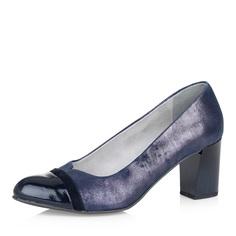 Кожаные лодочки на устойчивом каблуке Jana Shoes