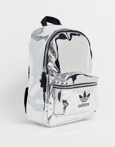 Переливающийся рюкзак с логотипом-трилистником adidas Originals - Серебряный