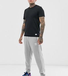 Серые джоггеры с 3 полосами adidas - Серый