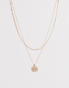 Золотистая цепочка в два ряда с подвеской Chained & Able - Золотой