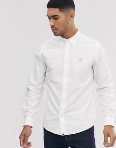 Белая оксфордская рубашка с логотипом Pretty Green - Белый