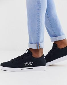 Черные парусиновые кроссовки с векторным логотипом и отделкой Reebok - Черный