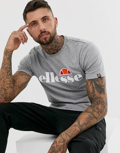 Серая футболка с большим логотипом ellesse - Prado - Серый