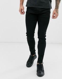 Черные супероблегающие джинсы Hollister - Черный