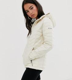 Бежевая куртка с капюшоном Columbia Powder Lite - Кремовый