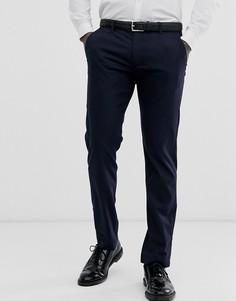 Темно-синие фактурные брюки слим Ted Baker - Темно-синий