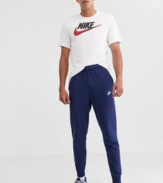Темно-синие джоггеры с манжетами Nike Tall Club - Темно-синий