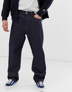 Синие свободные джинсы прямого кроя Carhartt WIP Smith - Темно-синий