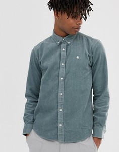 Голубая вельветовая рубашка с длинными рукавами Carhartt WIP Madison - Синий
