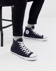 Темно-синие вельветовые кеды Converse - Chuck Taylor All Star - Темно-синий