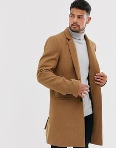 Бежевое пальто с добавлением шерсти Only & Sons - Рыжий
