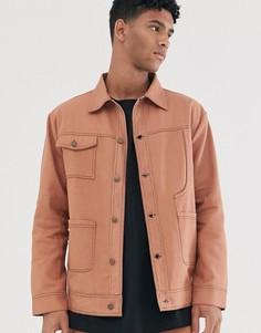 Светло-коричневая джинсовая куртка Sacred Hawk - Рыжий