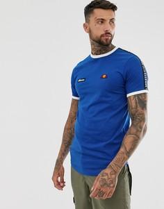 Синяя футболка с лентой ellesse Fede - Синий