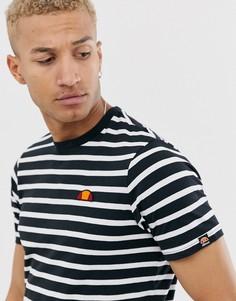 Черно-белая футболка в полоску ellesse Sailo - Черный