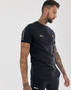 Черная футболка с лентой ellesse Fede - Черный