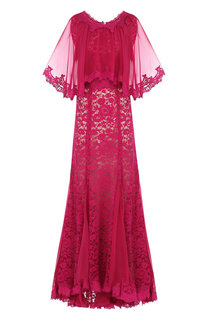 Шелковое кружевное платье-макси Dolce & Gabbana