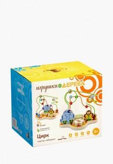 Набор игровой Игрушки из дерева Сортер лабиринт Цирк
