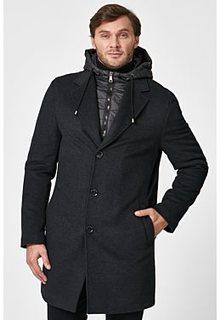 Утепленное пальто с капюшоном Al Franco
