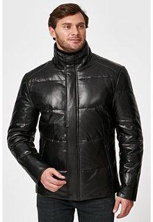 Утепленная кожаная куртка с отделкой мехом норки Al Franco