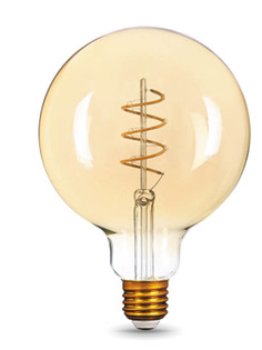 Лампочка Gauss Filament Flexible E27 G120 6W 360Lm 2400K Golden 158802008