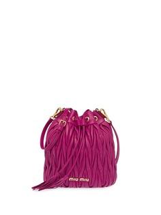 Miu Miu стеганая сумка-ведро