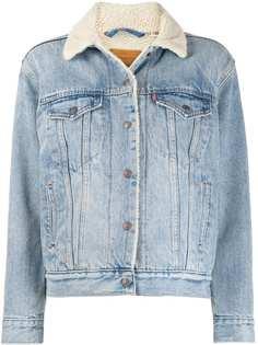 Levis джинсовая куртка на подкладке из шерпы