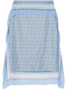 Burberry юбка-карандаш с монограммой