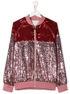 Alberta Ferretti Kids куртка на молнии с пайетками