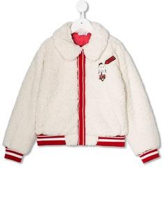 Dolce & Gabbana Kids шуба из искусственного меха