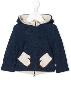 Oeuf вязаный свитер с заплатками в виде монстра
