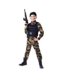 Карнавальный костюм Пуговка Спецназ, цвет: хаки