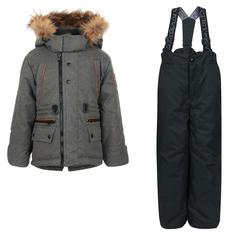 Комплект куртка/полукомбинезон Kvartet, цвет: серый