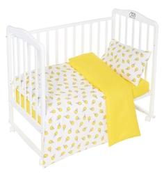 Комплект постельного белья Sweet Baby Gelato Giallo, цвет: желтый 3 предмета пододеяльник 140 х 110 см