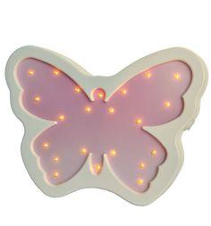 Светильник Iwoodplay Бабочка, цвет: розовый/белый