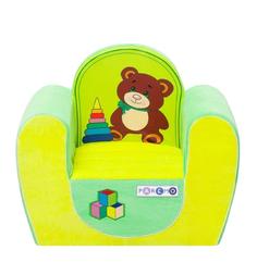 Кресло игровое Paremo Медвежонок, цвет: желтый/салатовый