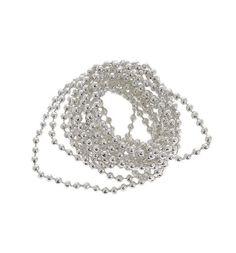 Новогоднее украшение Яркий Праздник Бусы-шарики серебро 270 см