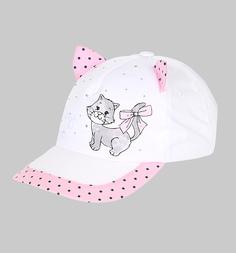 Бейсболка Magrof, цвет: белый/розовый