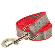 Поводок для собак Каскад усиленный капроновый, цвет: красный