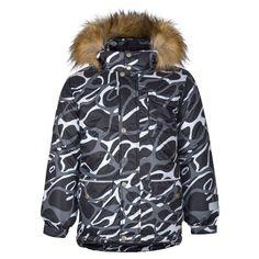 Куртка Kisu, цвет: черный/белый