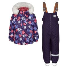 Комплект куртка/полукомбинезон Kisu, цвет: фиолетовый