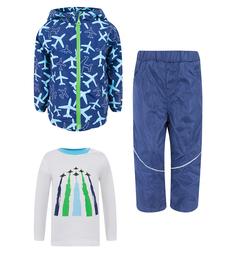 Комплект куртка/брюки/джемпер Bony Kids, цвет: синий