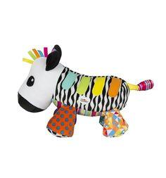 Интерактивная мягкая игрушка Tomy Музыкальная зебра со звуком 21 см