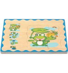 Деревянная игрушка Мир Деревянных Игрушек Пазл. лягушонок, 30 см