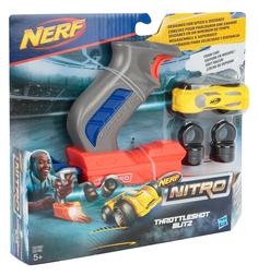 Пусковое устройство Nerf Nitro Throttleshot Blitz желтая машинка