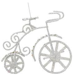 Елочное украшение Winter Wings Велосипед с блестящей крошкой