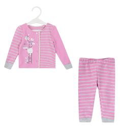 Комплект кофта/брюки Crockid, цвет: розовый